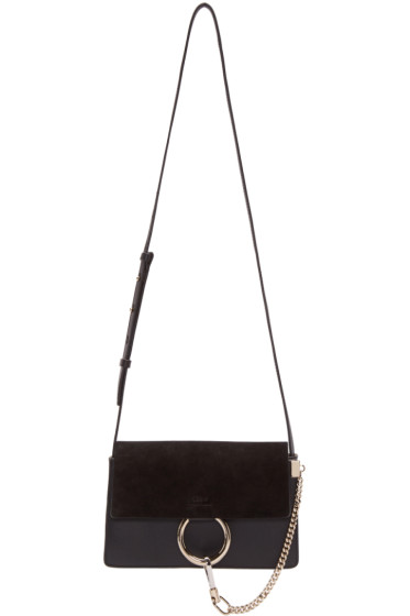 Chloé - Black Leather & Suede Small Faye Bag