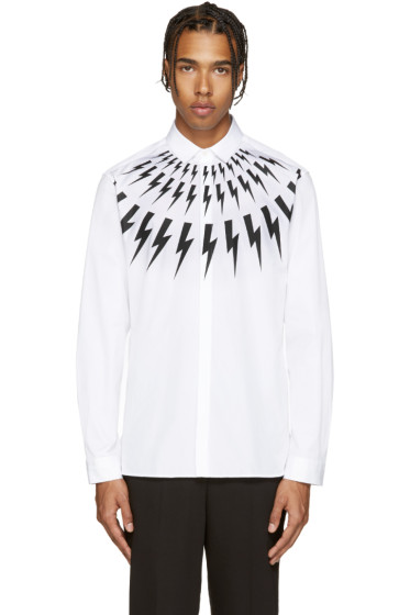 Neil Barrett - White Thunderbolt Shirt