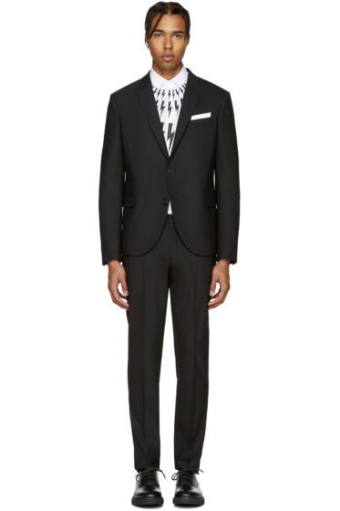 Neil Barrett - Black Classic Skinny Suit