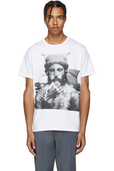 Neil Barrett - White Tattooed Statue T-Shirt