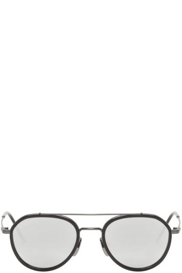Thom Browne - Black & Dark Grey TB-801 Sunglasses