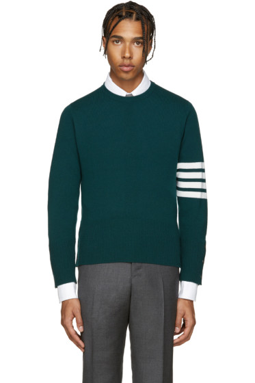 Thom Browne - Green Cashmere Pullover