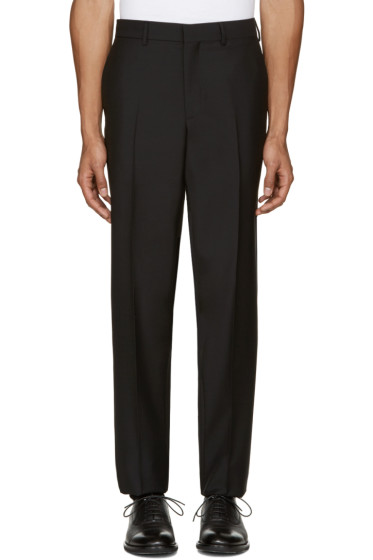 Versace - Black Wool Trousers