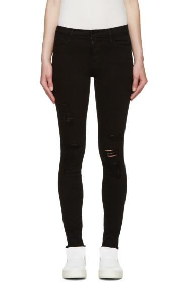 Frame Denim - Black Skinny Le High Jeans