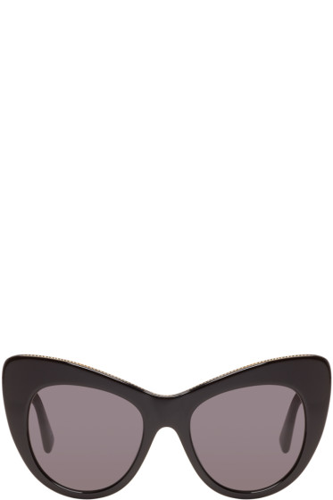 Stella McCartney - Black Cat-Eye Sunglasses