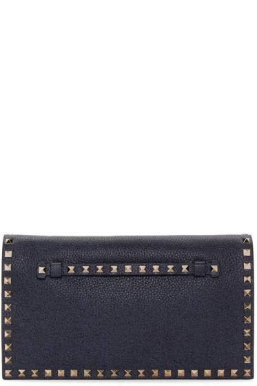 Valentino - Blue Leather Rockstud Clutch