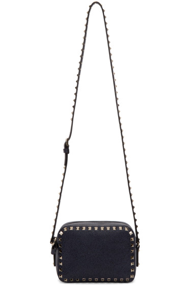 Valentino - Navy Rockstud Camera Bag