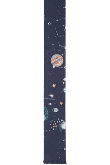 Valentino - Navy Silk Constellations Tie