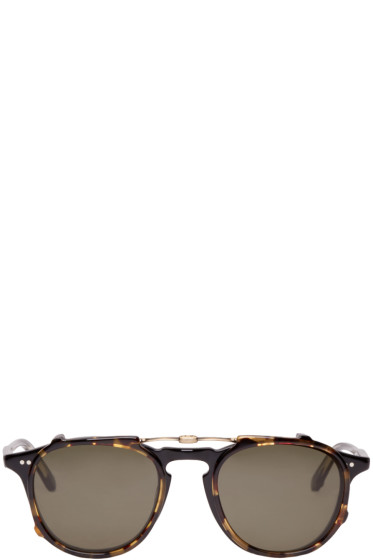 Garrett Leight - Black & Tortoiseshell Clip-On Hampton Glasses