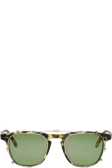 Garrett Leight - Tortoiseshell Clip-On Brooks Glasses