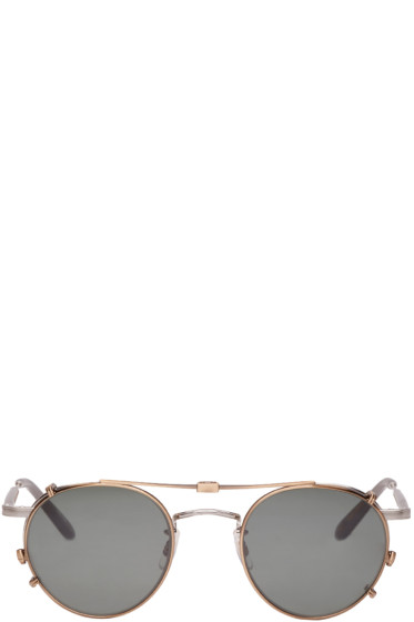 Garrett Leight - Silver Clip-On Wilson M Sunglasses
