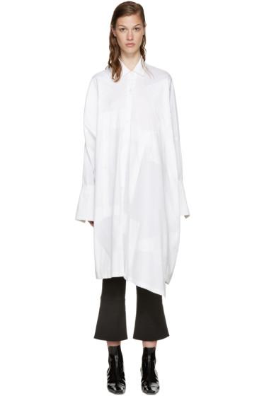 LOEWE - White Oversized Patchwork Shirt