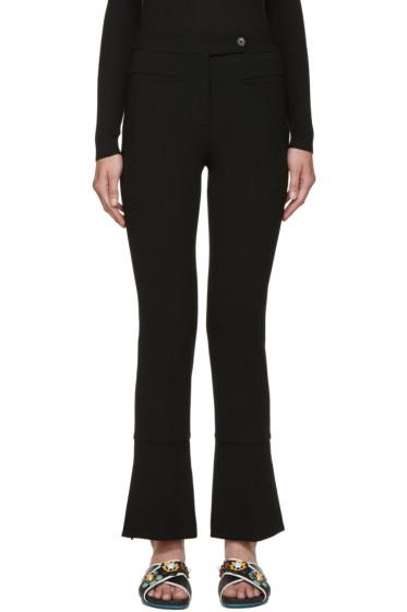 Fendi - Black Wool Trumpet Flare Trousers