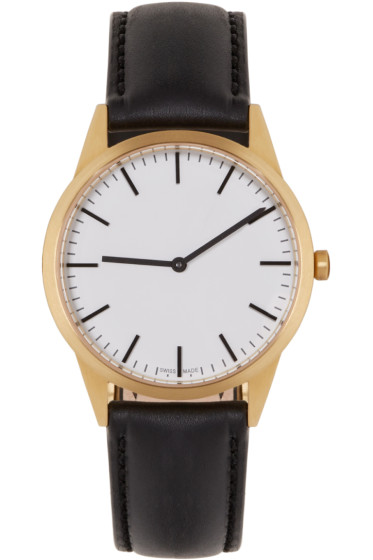 Uniform Wares - Gold & Black C35 Watch