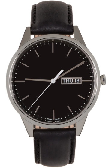 Uniform Wares - Silver & Black C40 Watch