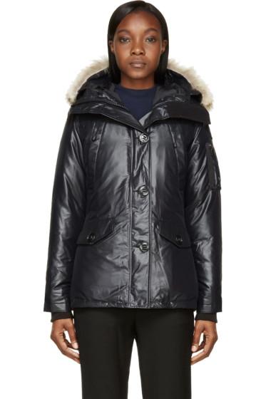 Canada Goose - Black Down Fur-Trimmed Montebello Jacket
