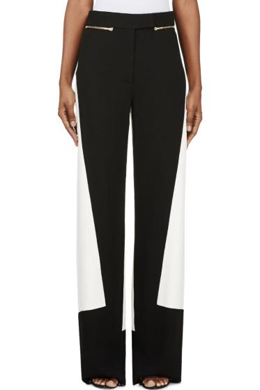 Calvin Klein Collection - Black & White Colorblocked Pants