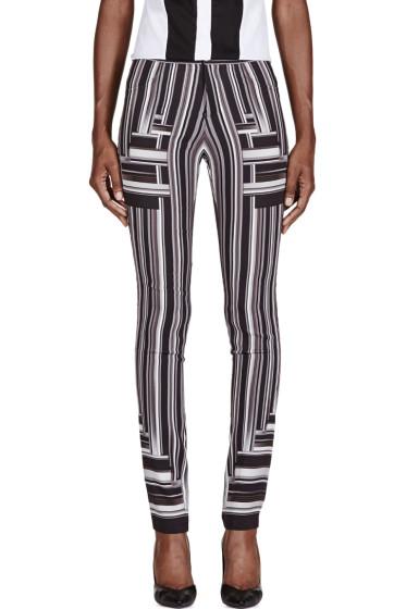 Peter Pilotto - Black & White Stripe Skinny Trousers