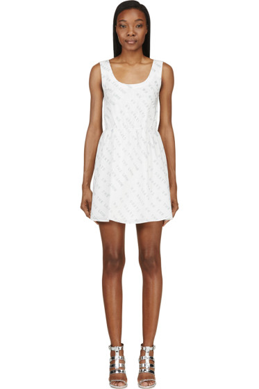 Maiyet - White Text Graphic Dress