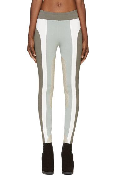 Marc Jacobs - Grey Blue Textile & Leather Riding Pants