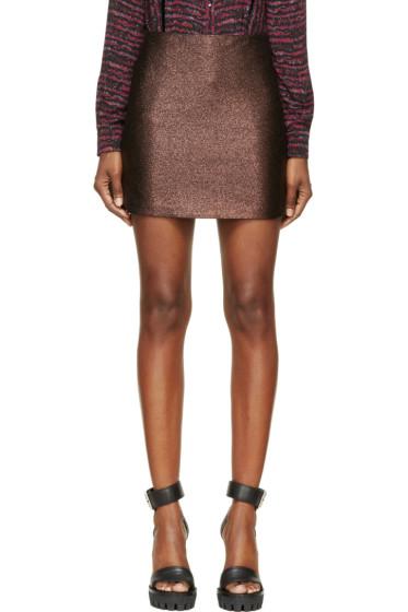 Rodarte - Black Copper Lurex Jacquard Mini Skirt