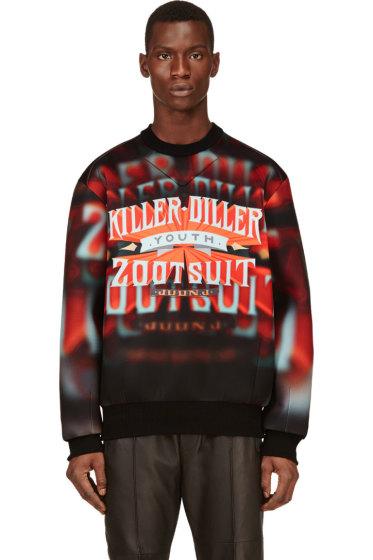 Juun.J - Red & Orange Neoprene Killer Diller Sweatshirt
