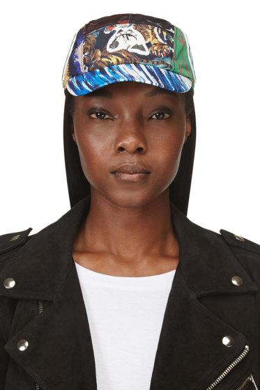 Kenzo - Red & Blue Nylon Mixed Print & Logo Hat