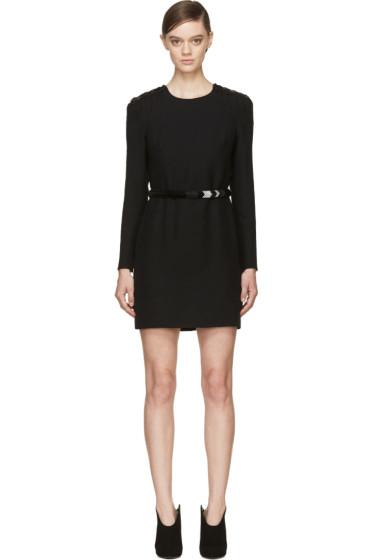 Versace - Black Beaded Epaulet Cocktail Dress
