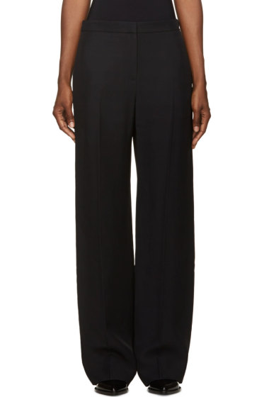 Maiyet - Black Pleated Pillar Trousers