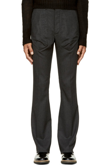 Siki Im - Black Houndstooth Boot-Cut Trousers