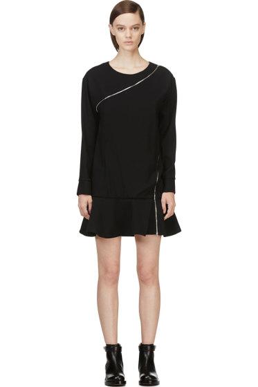 Jay Ahr - Black Zip-Wrap Phenice Dress