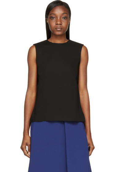 Studio Nicholson - Black Sleeveless Scuba Shell Mercer Top