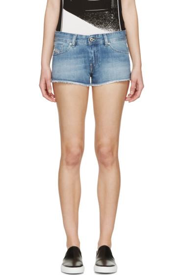 Diesel - Blue Denim De-Shoget Shorts