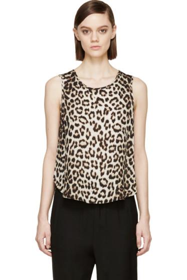 Rag & Bone - Beige Leopard Silk Top