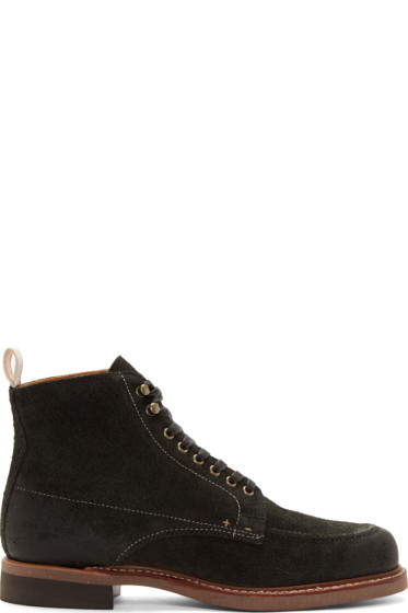 Rag & Bone - Black Brushed Leather Rowan Boots