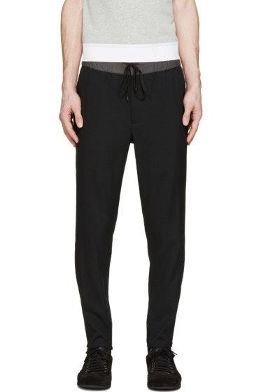 Public School - Black Woven Track Trousers