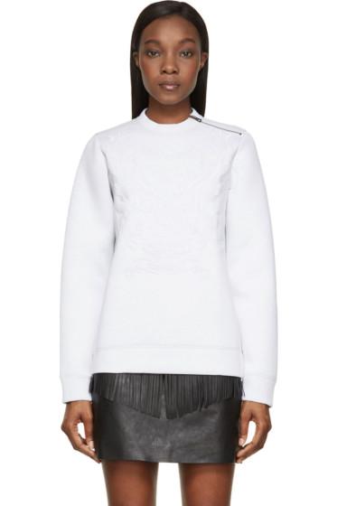 Diesel Black Gold - Grey Embroidered Neoprene Sweatshirt