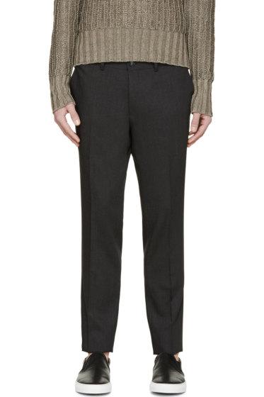Tiger of Sweden - Dark Grey Wool Herris Trousers