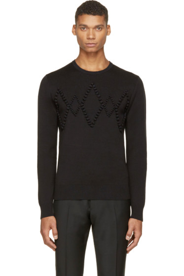 Krisvanassche - Black Diamond Appliqué Sweater