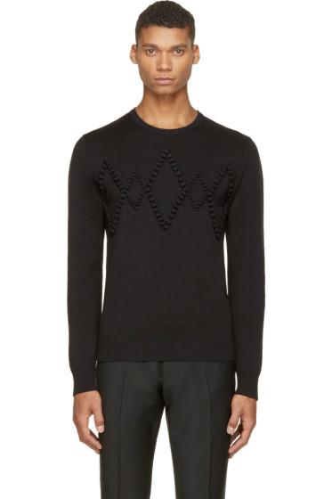 Krisvanassche - Black Diamond Appliqué Sweater
