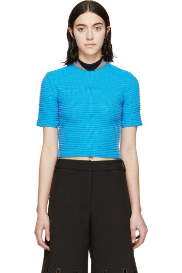 Alexander Wang - Blue Cropped Cycling T-Shirt