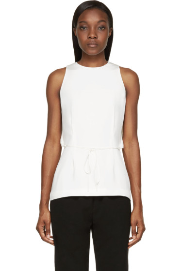 Alexander Wang - Ivory Crepe Wing-Back Blouse