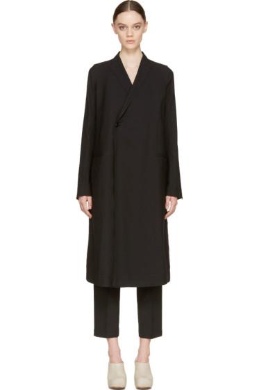 Rick Owens - Black Double-Breasted Sharp Coat