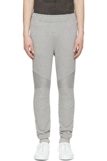 Balmain - Grey Biker Lounge Pants
