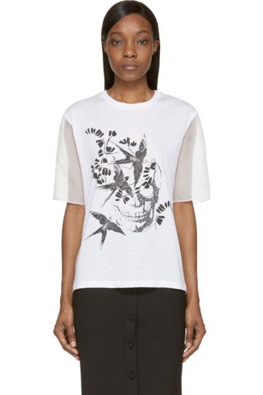 Alexander McQueen - White Organza Sleeve Swallow Shirt