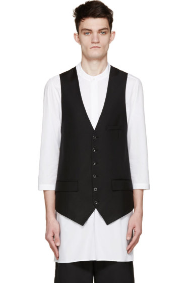 Alexander McQueen - Black Long Vest