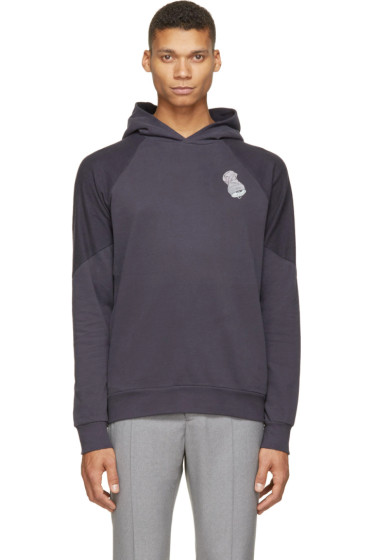Paul Smith - Navy Zippered Trash Can Hoodie