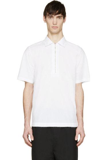Damir Doma - White Poplin Zipped Polo Shirt