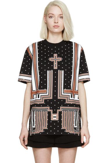 Givenchy - Black & Brown Cross T-Shirt