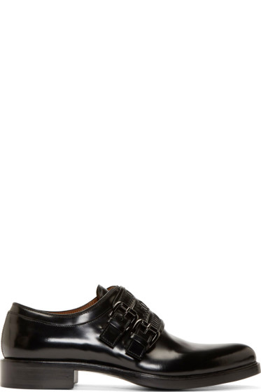 Givenchy - Black Leather Monk strap Shoes